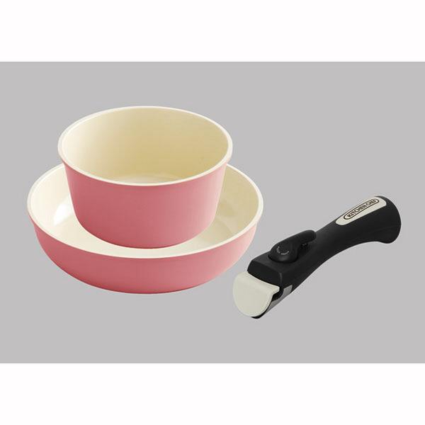 アイリスオーヤマ セラミックカラーパン3点セット ピンク 1セット (直送品)
