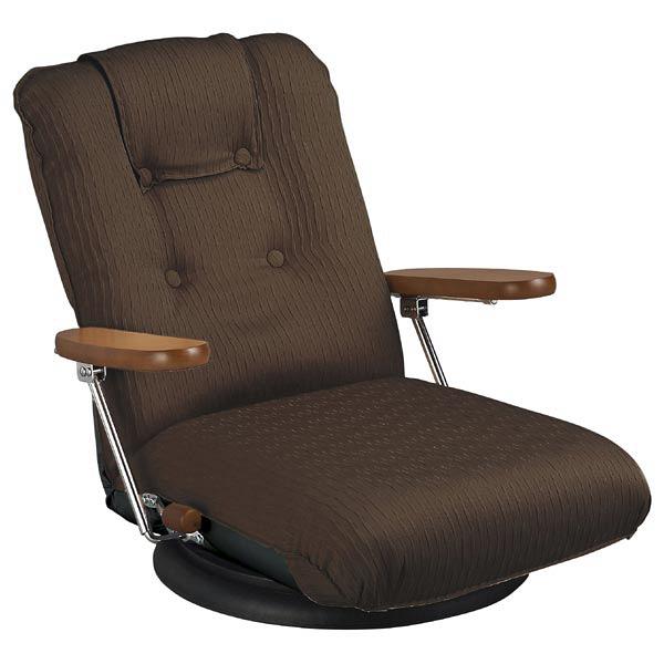 ポンプ肘式回転座椅子 ブラウン