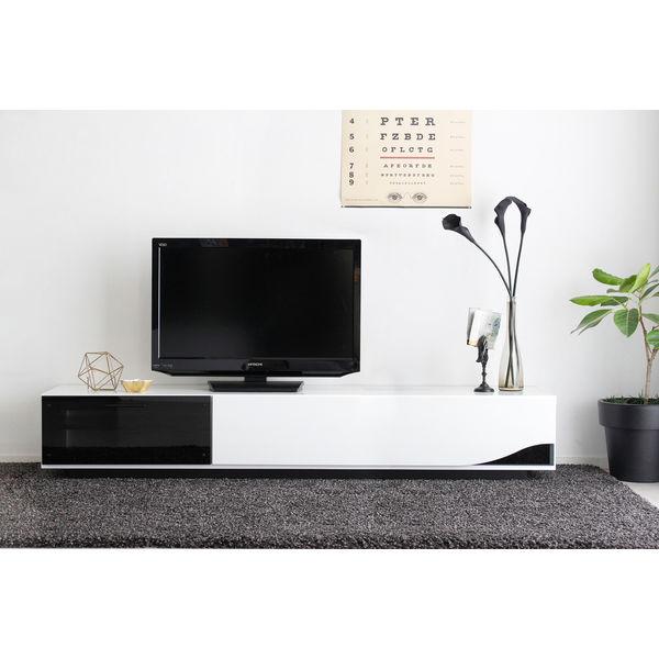 quad TVボード 幅1800mm ホワイト 1台 東馬 (直送品)