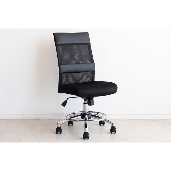 lott オフィスチェアー ブラック 1台 東馬 (直送品)