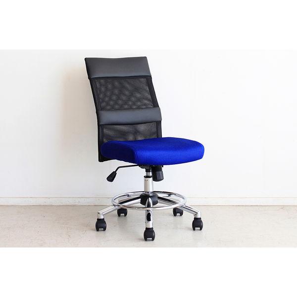 lott オフィスチェアー ブルー 1台 東馬 (直送品)