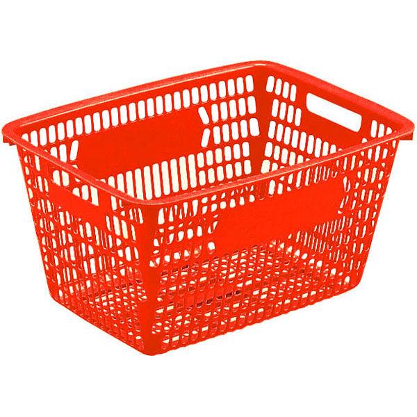 サンコー レジスターバスケットー2(レッド) 買い物カゴ 1027672R (直送品)