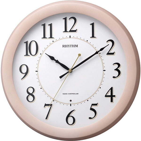 リズム時計(RHYTHM) フィットウェーブリッツ [電波 掛け 時計] ナチュラル 8MYA24SR13 1個 (直送品)