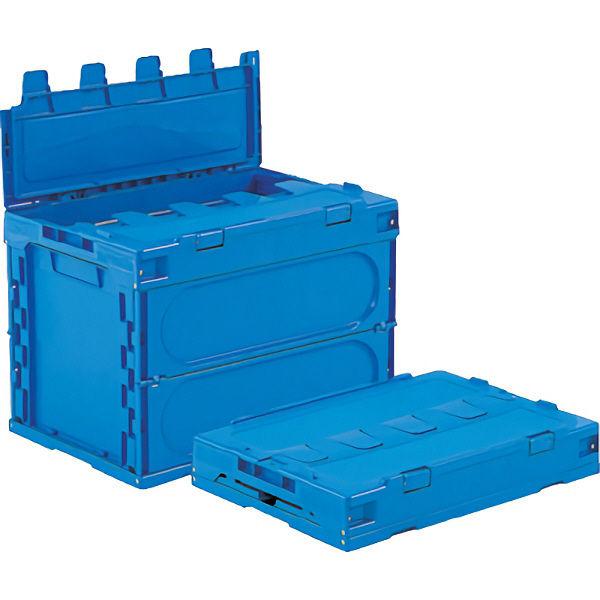 サンコー サンクレットオリコン 60B フタ一体型 59.5L ブルー (直送品)