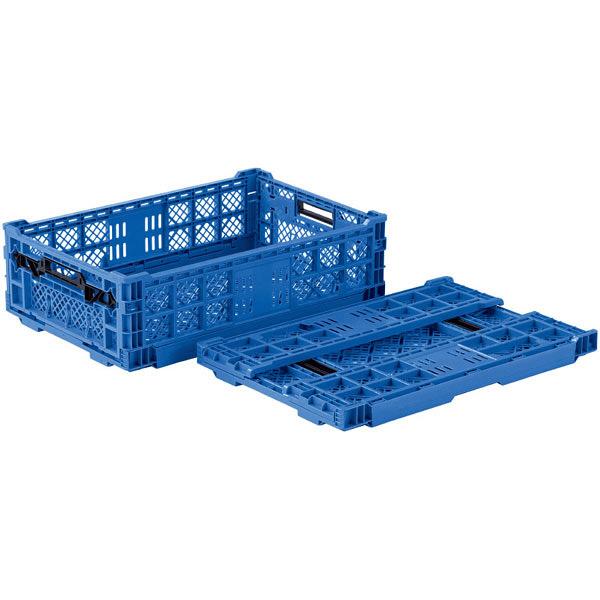 サンコー オリコン EP33A-B フタ無 33.4L ブルー (直送品)