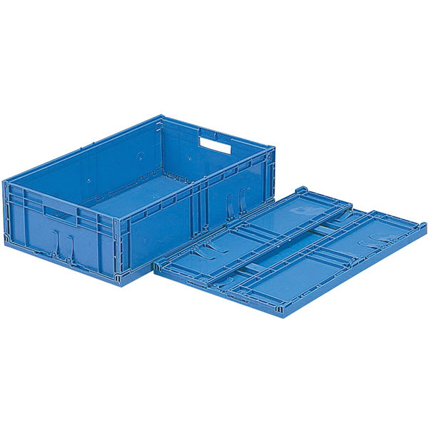 サンコー F-Box 122 無地 フタ無 27.7L ブルー (直送品)