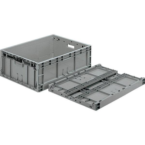サンコー TPO-462.5 カード有 孔無 フタ無 67.4L ライトグレー (直送品)