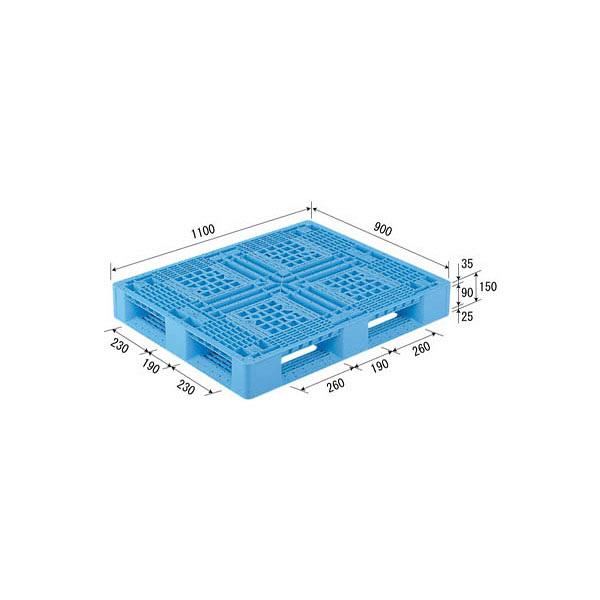 サンコー パレット D4-911-2(PP) 80890200BL510 (直送品)