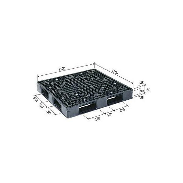 サンコー パレット D4-1111-3 (PP) 81220300BL510 (直送品)