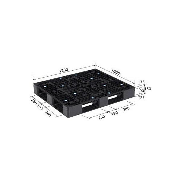 サンコー パレット D4-1012-9 81295100BL510 (直送品)