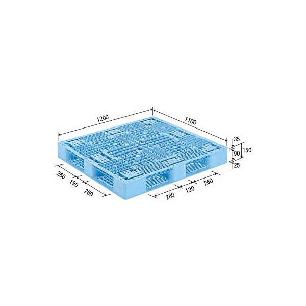 サンコー パレット D4-1112-2 (PP) 81300800BL510 (直送品)