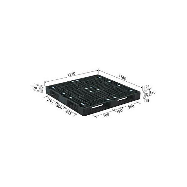サンコー パレット D4-112116-2 81305800BKRCP (直送品)