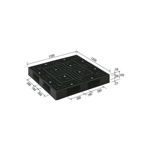 サンコー パレット D4-1212-2 81443600BKRCP (直送品)