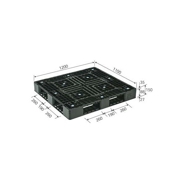 サンコー パレット D4-1112-3 81540600BKRCP (直送品)