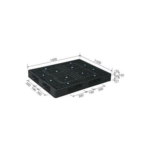 サンコー パレット D4-1114-2 81632900BL510 (直送品)