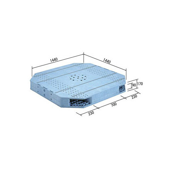 サンコー パレット R2-144144F-FJ 82070001BL502 (直送品)