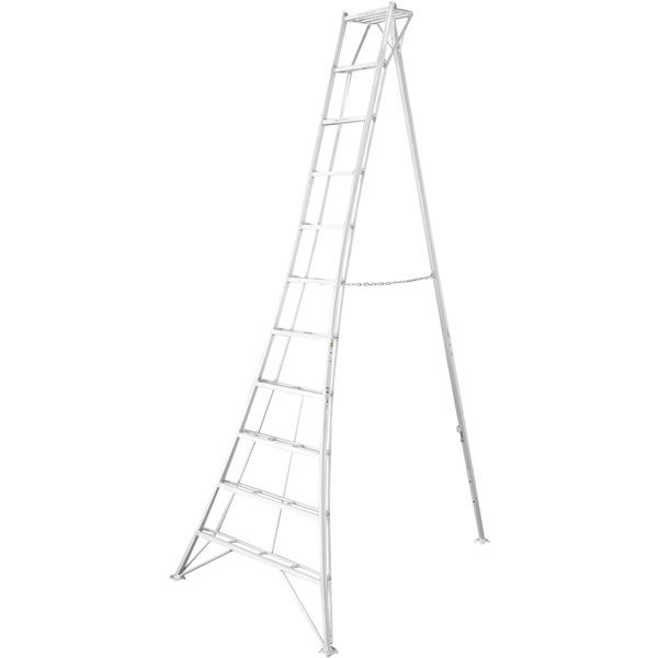 Hasegawa(長谷川工業) アルミ合金 三脚 スタンダードグリーンステップ 11段 (11尺 331cm) GSC-330T 1台 (直送品)