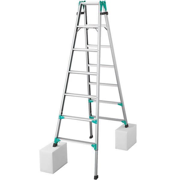 Hasegawa(長谷川工業) アルミ合金 はしご兼用脚立脚部伸縮式 7段 (7尺 222cm) RYZ1.0-21 1台 (直送品)