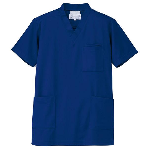 AITOZ(アイトス) ニットスクラブ(男女兼用) 半袖 ブルー LL 861401-006-LL (直送品)