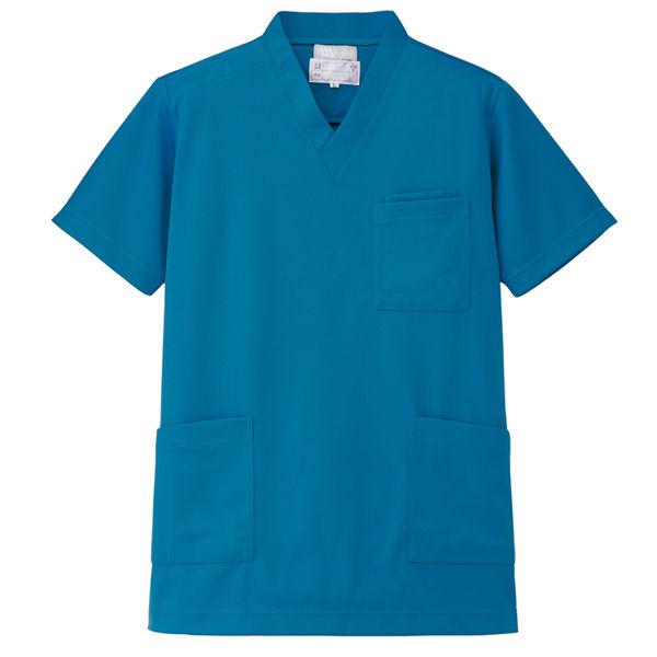 AITOZ(アイトス) ニットスクラブ(男女兼用) 半袖 ターコイズ 3L 861401-027-3L (直送品)
