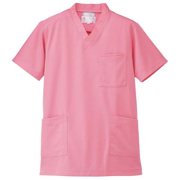 AITOZ(アイトス) ニットスクラブ(男女兼用) 半袖 ピンク SS 861401-060-SS (直送品)