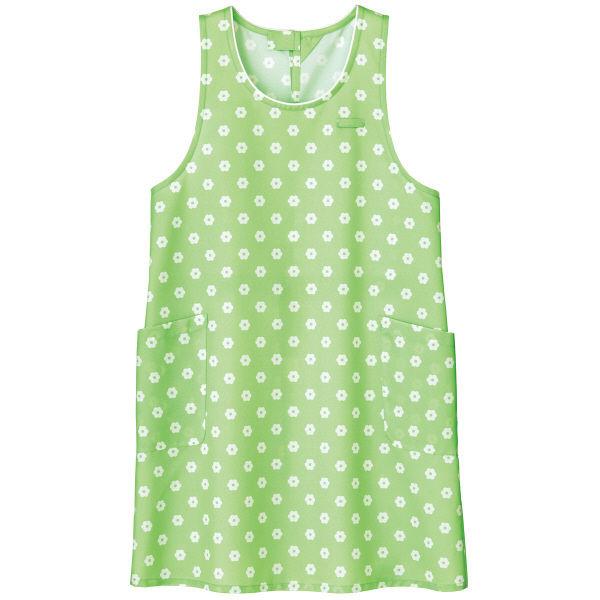 ボンマックス 胸当てエプロン(デイジープリント) グリーン フリーサイズ FK7145-4(直送品)