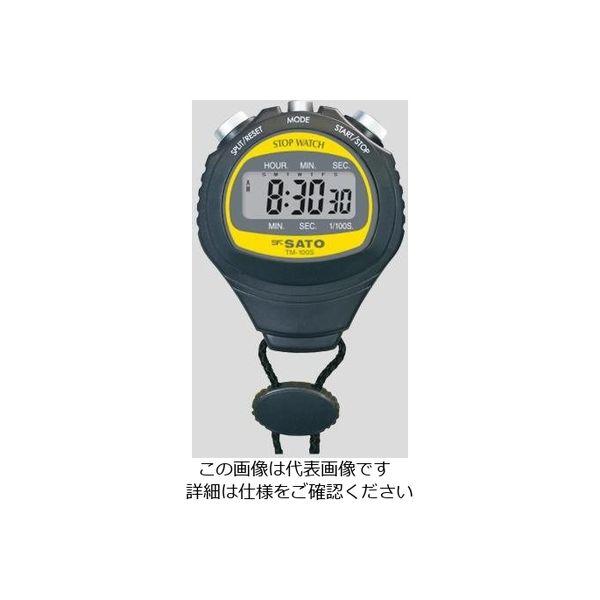 佐藤計量器製作所 デジタルストップウォッチ TM-100S 1個 2-9609-01(直送品)