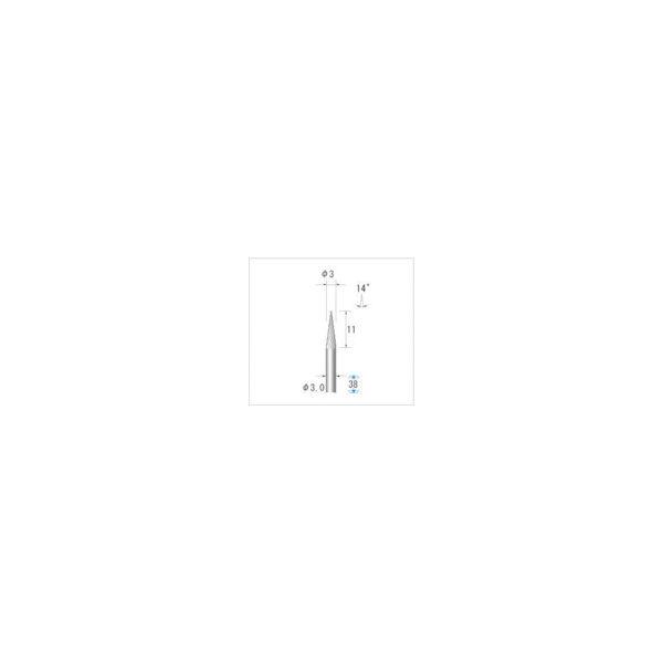 ナカニシ チタンコート超硬カッター テーパー(シングルカット)刃径3mm刃長11mm 21318 1本 476-2045(直送品)