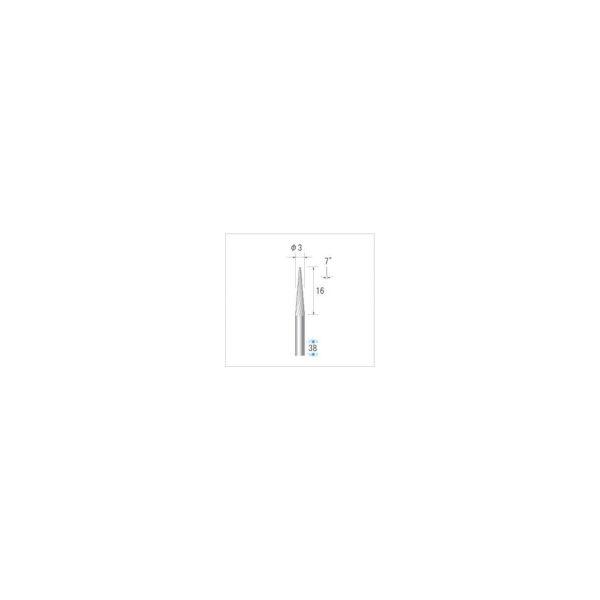 ナカニシ チタンコート超硬カッター テーパー(シングルカット)刃径3mm刃長16mm 21319 1本 476-2053(直送品)