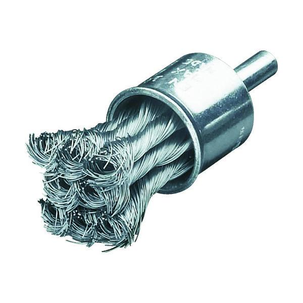 LESSMANN(レスマン) LESSMANN 軸付ノット型エンドブラシ Φ22 高張度鋼線 0.25 454258 1個 484-0127(直送品)