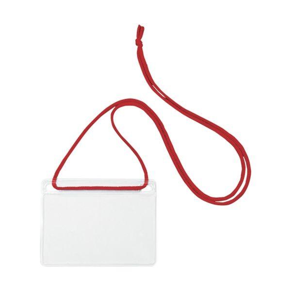 オープン工業(OPEN) OP 簡易吊り下げ名札 名刺サイズ 10枚 赤 NL-11-RD 1袋(10枚) 491-6484(直送品)
