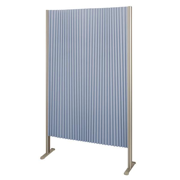 林製作所 ダブルプリーツ伸縮スクリーンS 高さ1600mm 幅900mm ブルー (直送品)