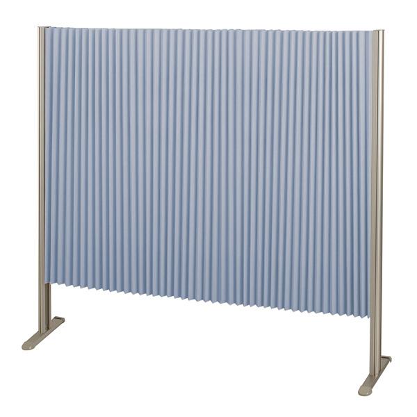 林製作所 ダブルプリーツ伸縮スクリーンS 高さ1200mm 幅1350mm ブルー (直送品)