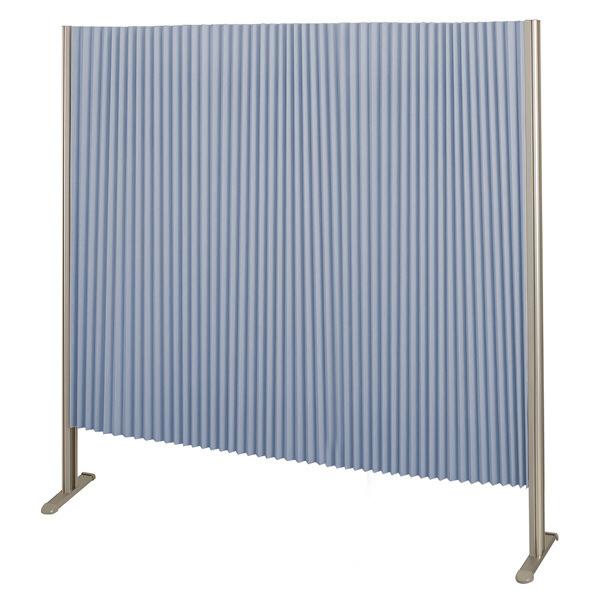 林製作所 ダブルプリーツ伸縮スクリーンS 高さ1400mm 幅1350mm ブルー (直送品)
