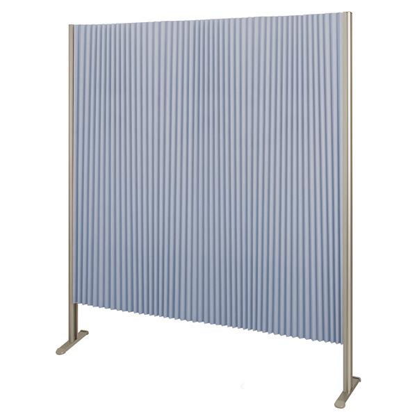 林製作所 ダブルプリーツ伸縮スクリーンS 高さ1600mm 幅1350mm ブルー (直送品)