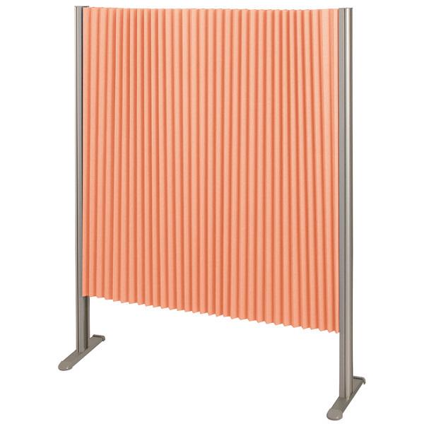 林製作所 ダブルプリーツ伸縮スクリーンS 防炎・抗菌タイプ L7052 サイズS 幅900mm 高さ1200mm オレンジ (直送品)