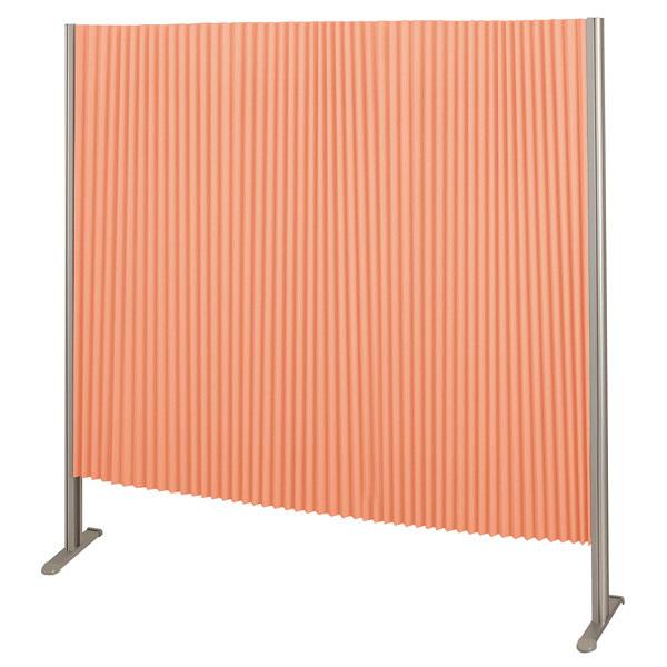 林製作所 ダブルプリーツ伸縮スクリーンS 防炎・抗菌タイプ L7064 サイズS 幅1350mm 高さ1400mm オレンジ (直送品)