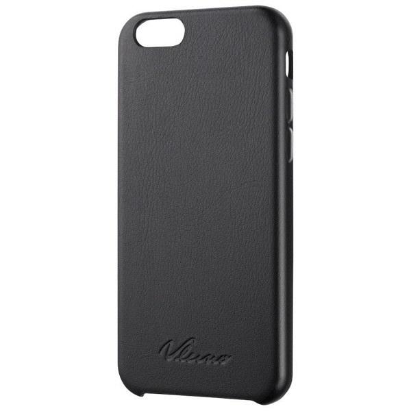 エレコム iPhone 6 用ソフトレザーカバー オープン PM-A14PVLBK (直送品)