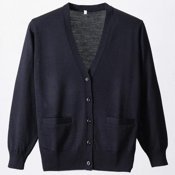 D-PHASE(ディーフェイズ) 抗ピルポケット付きカーディガン 女性用 長袖 ブラック L D1010BKL (直送品)