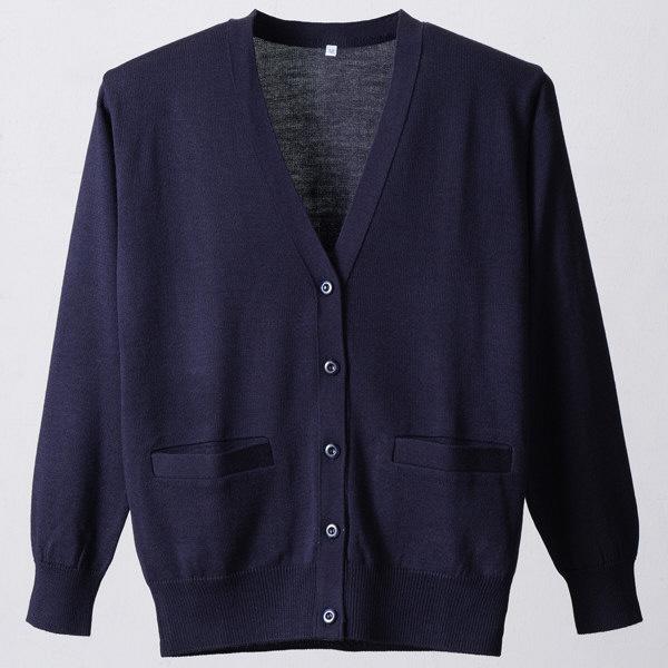 D-PHASE(ディーフェイズ) 抗ピルポケット付きカーディガン 女性用 長袖 濃紺 L D1010DBL (直送品)