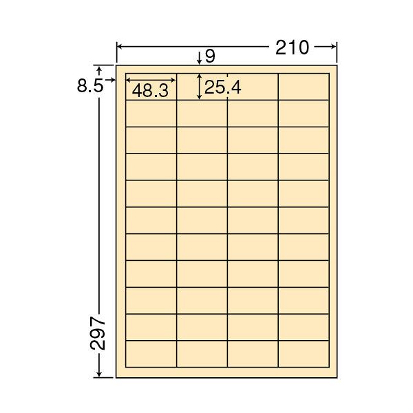 東洋印刷 マルチタイプカラーラベル再剥離タイプ CL60FHY (直送品)