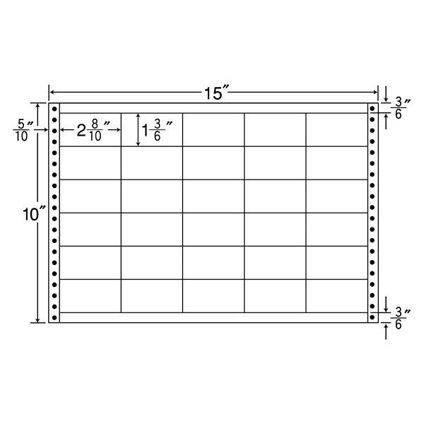 東洋印刷 タックフォームラベル耐熱タイプ LB15G (直送品)