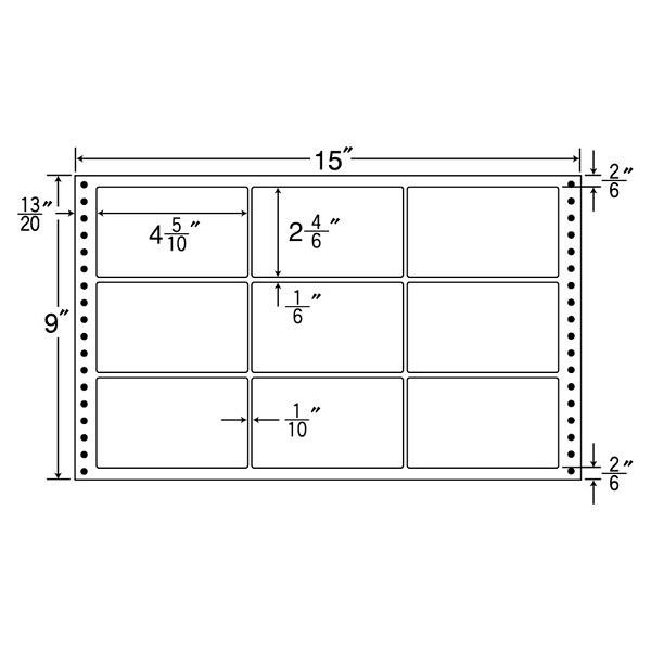 東洋印刷 タックフォームラベル耐熱タイプ LT15F (直送品)