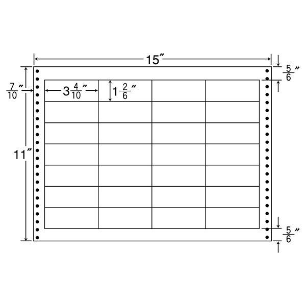 東洋印刷 タックフォームラベル耐熱タイプ LX15K (直送品)