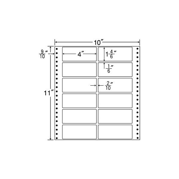 東洋印刷 タックフォームラベル M10G (直送品)