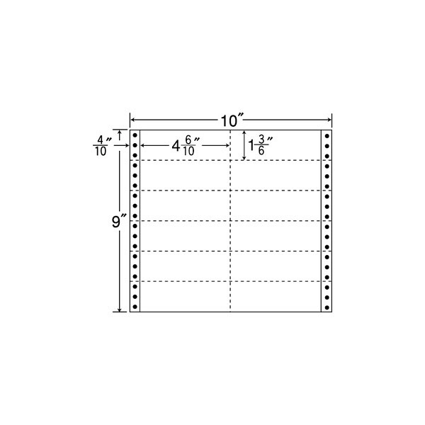 東洋印刷 タックフォームラベル M10S (直送品)