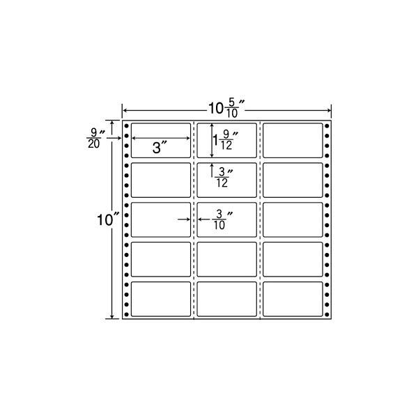 東洋印刷 タックフォームラベル M10Y (直送品)