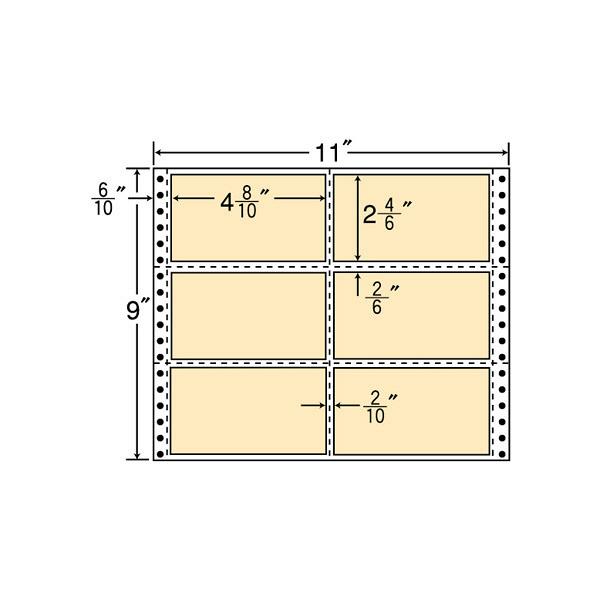 東洋印刷 タックフォームラベルカラータイプ M11BH (直送品)