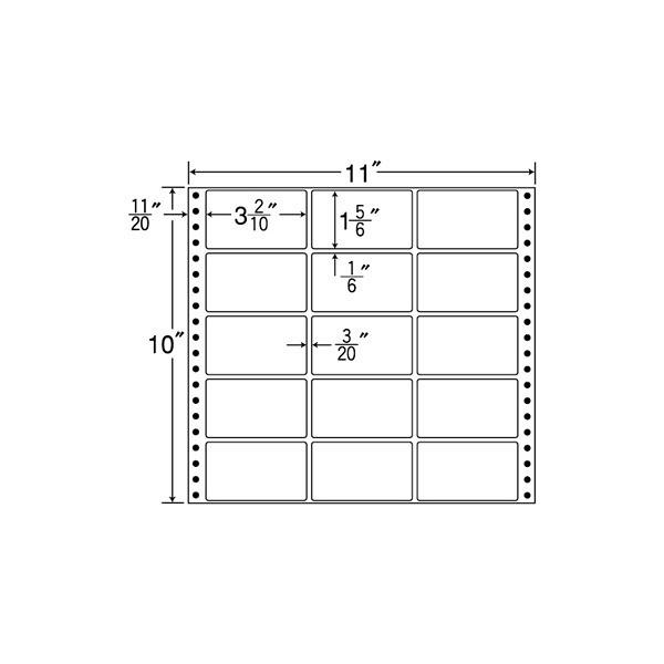 東洋印刷 タックフォームラベル M11E (直送品)