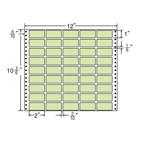 東洋印刷 タックフォームラベルカラータイプ M12CG (直送品)